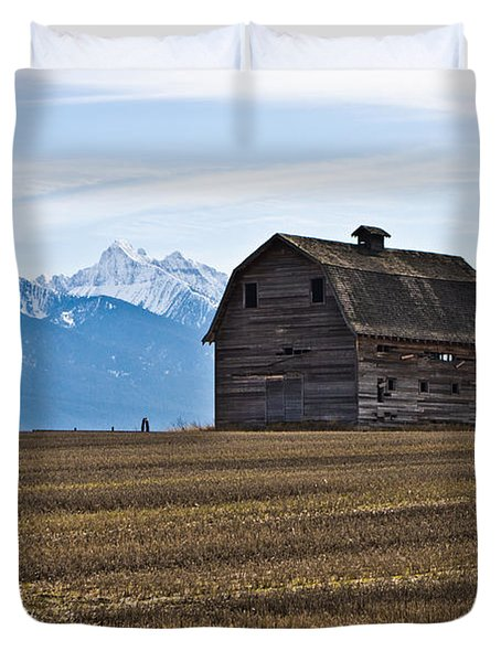Old Barn, Mission Mountains 2 Duvet Cover