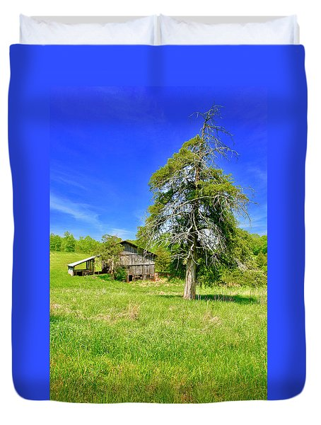 Old Barn, Smith Mountain Lake Duvet Cover
