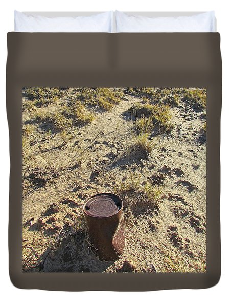 Old Beer Can Duvet Cover by Brenda Pressnall
