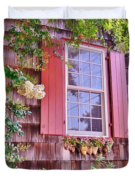 Old Bethel Church Window Duvet Cover