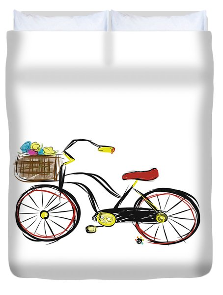 Old Bicycle Duvet Cover