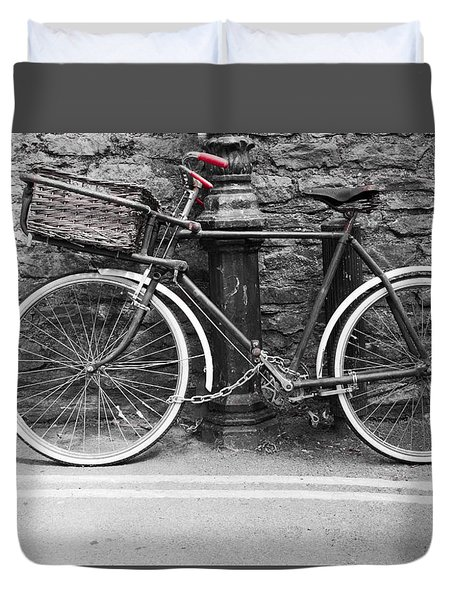 Old Bicycle Duvet Cover by Helen Northcott
