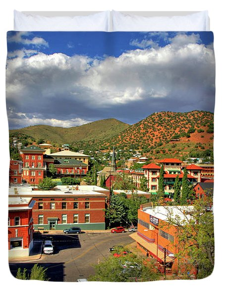 Old Bisbee Arizona Duvet Cover