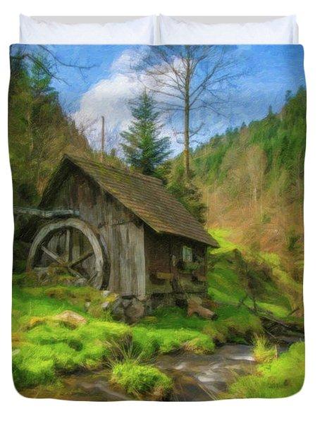 Old Black Forest Mill Duvet Cover