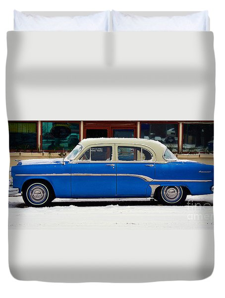 Old Blue Duvet Cover