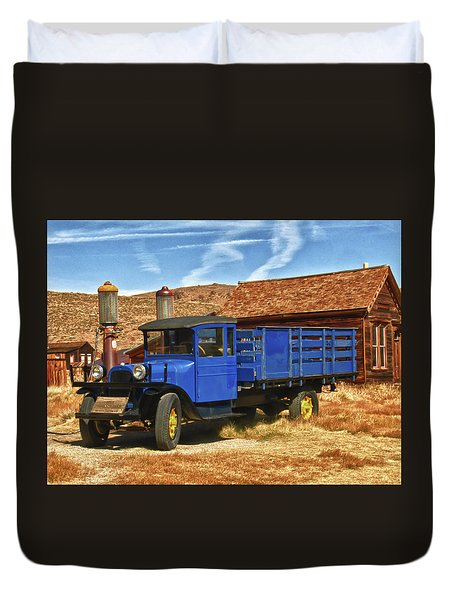 Old Blue 1927 Dodge Truck Bodie State Park Duvet Cover by James Hammond
