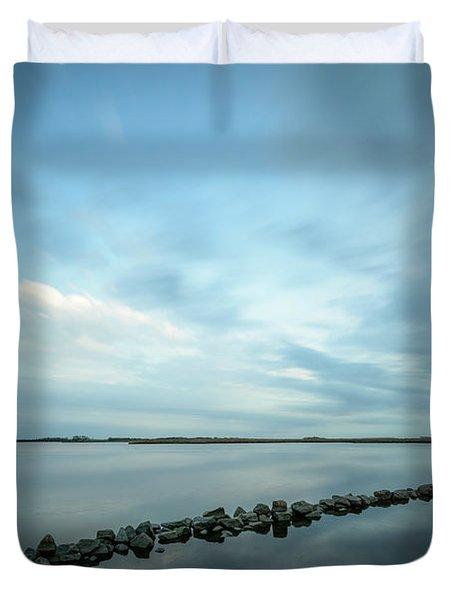 Old Blue Morning Duvet Cover