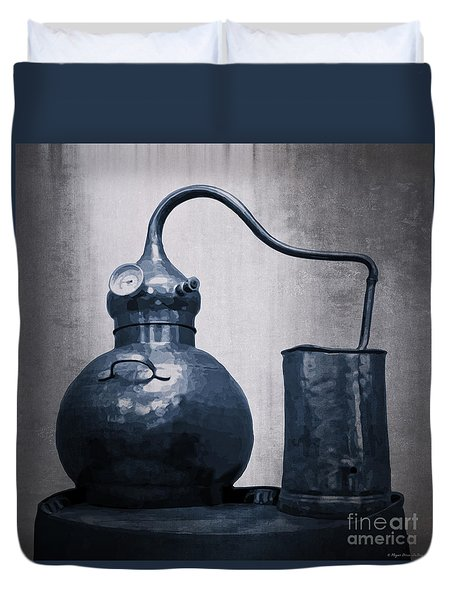 Duvet Cover featuring the digital art Old Blue Still by Megan Dirsa-DuBois