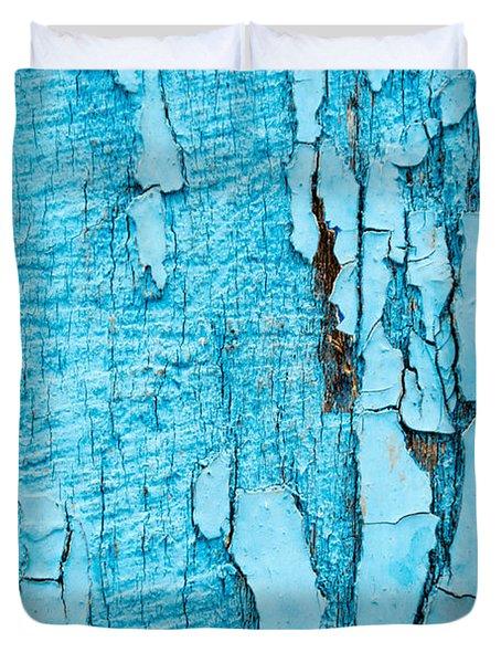 Old Blue Wood Duvet Cover