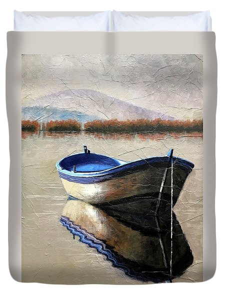 Old Boat Duvet Cover by Janet King