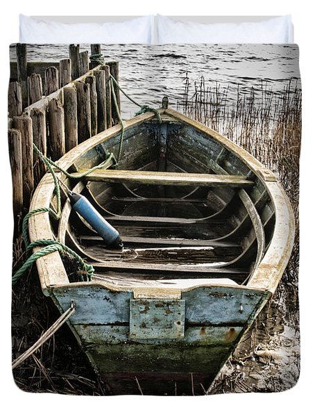 Old Boat Duvet Cover by Mike Santis