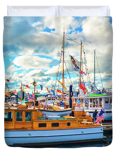 Old Boats Duvet Cover