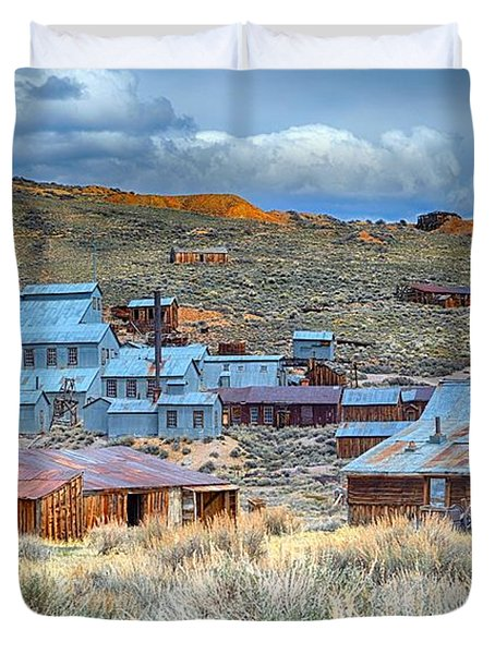Old Bodie Gold Mining Town Duvet Cover