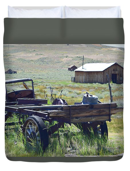 Old Bodie Wagon Duvet Cover