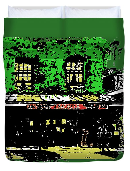 Old Bookshop Duvet Cover by Asok Mukhopadhyay