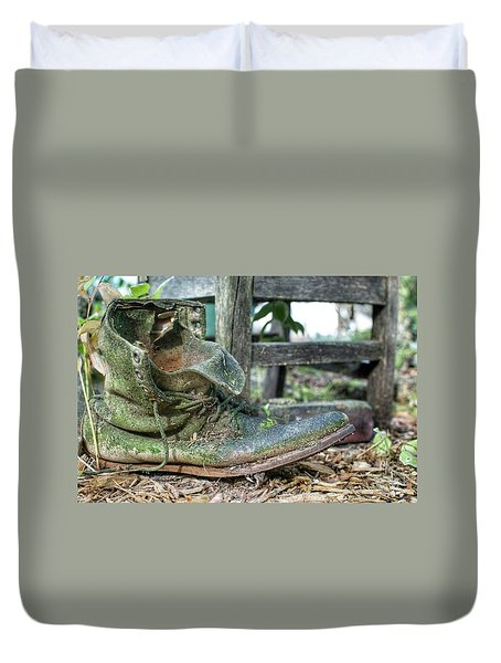 Old Boot Duvet Cover