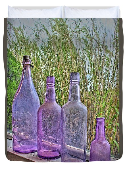 Old Bottle Collection Duvet Cover