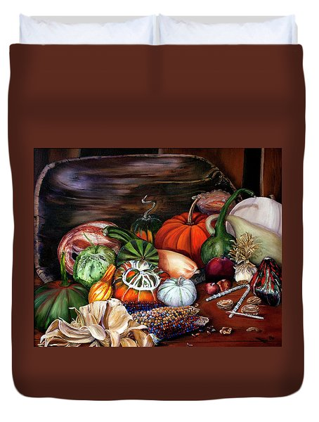 Old Bowl Cornucopia Duvet Cover