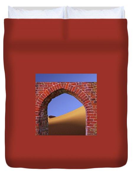 Old Brick Portal To The Desert Duvet Cover