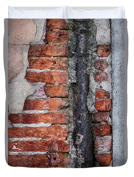 Duvet Cover featuring the photograph Old Brick Wall Fragment by Elena Elisseeva