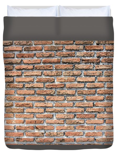 Duvet Cover featuring the photograph Old Brick Wall by Jingjits Photography
