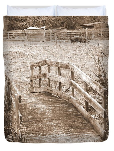Old Bridge Duvet Cover
