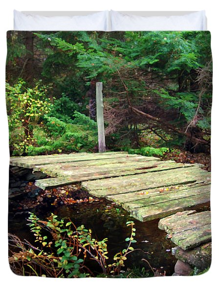 Duvet Cover featuring the photograph Old Bridge by Francesa Miller