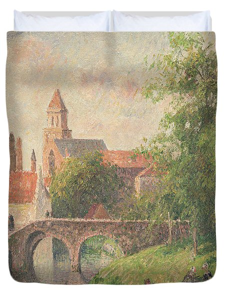Old Bridge In Bruges  Duvet Cover