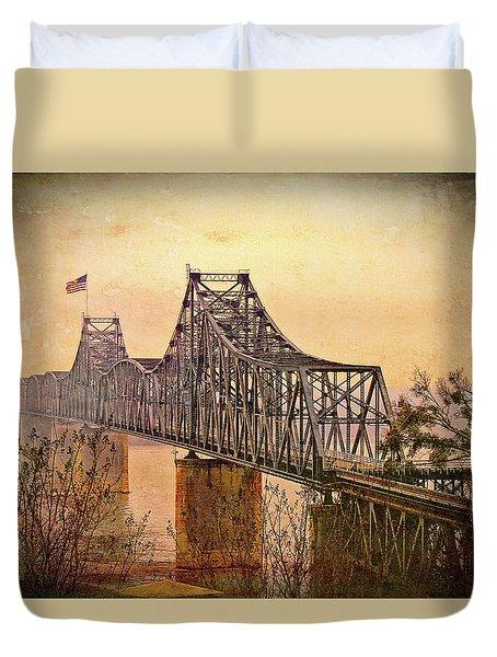 Old Bridge Of Vicksberg, Ms Duvet Cover by Bonnie Willis
