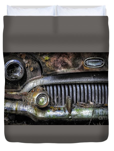 Old Buick Front End Duvet Cover