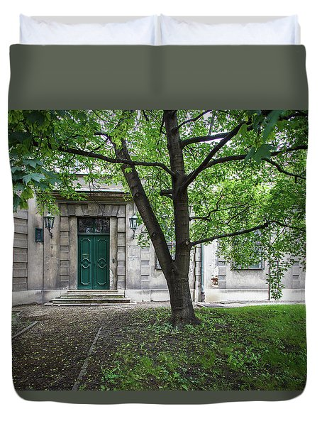 Old Building Exterior Duvet Cover