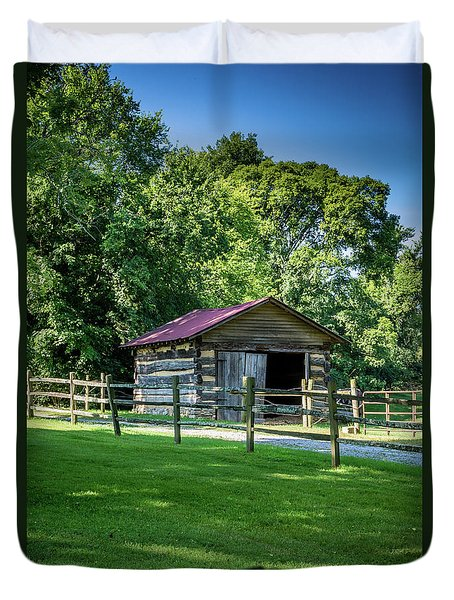 Duvet Cover featuring the photograph Old Building - The Hermitage by James L Bartlett
