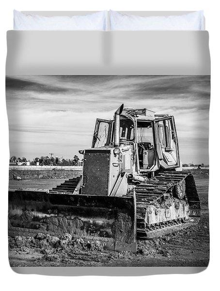 Old Bulldozer Duvet Cover by Doug Long