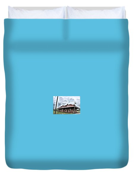 Old Burkeville Station Duvet Cover