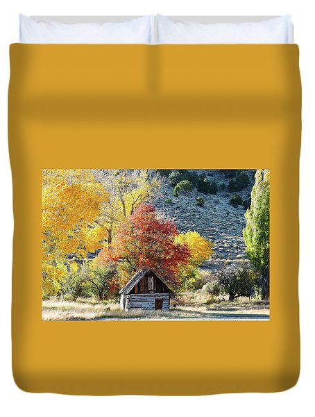 .  Butch Cassidy's Home Place  Duvet Cover