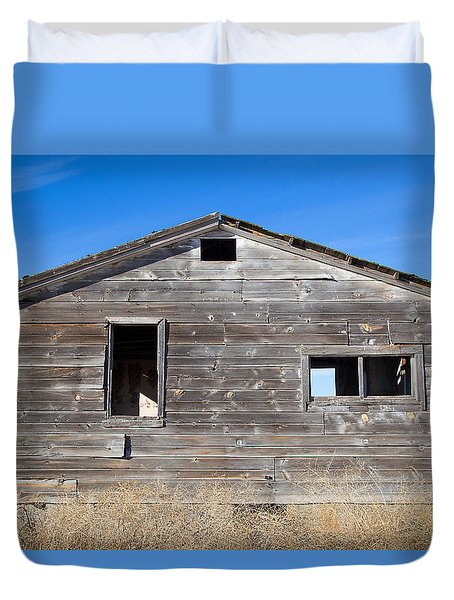 Old Cabin In Idaho, Usa Duvet Cover