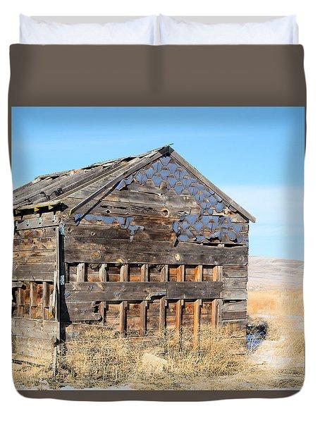 Old Cabin In The Desert Duvet Cover