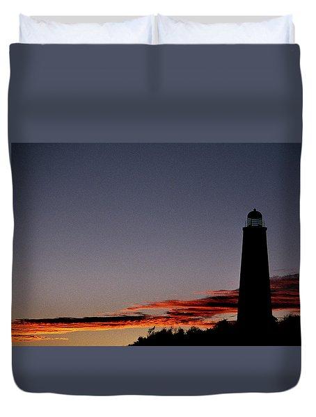 Old Cape Henry Sunrise Duvet Cover by Skip Willits