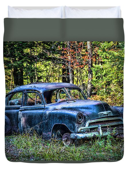Old Car Duvet Cover by Alana Ranney