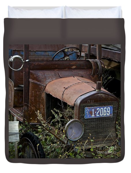 Old Car Duvet Cover by Anthony Jones