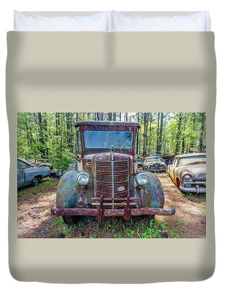 Old Car Smile Duvet Cover