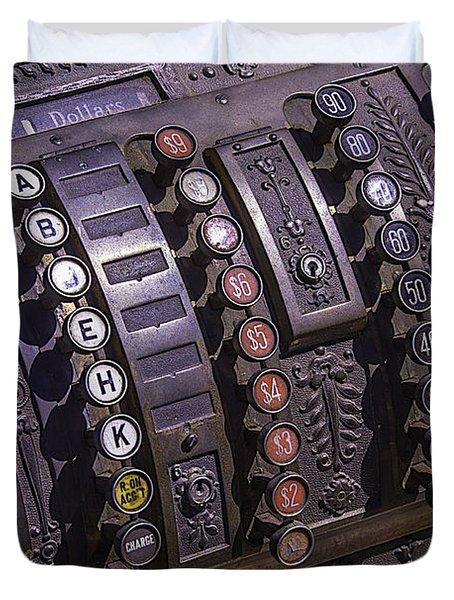Old Cash Register Duvet Cover