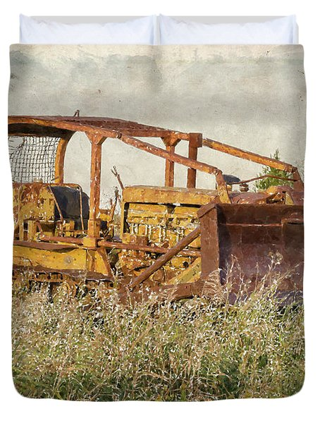 Old Cat Watercolor Duvet Cover