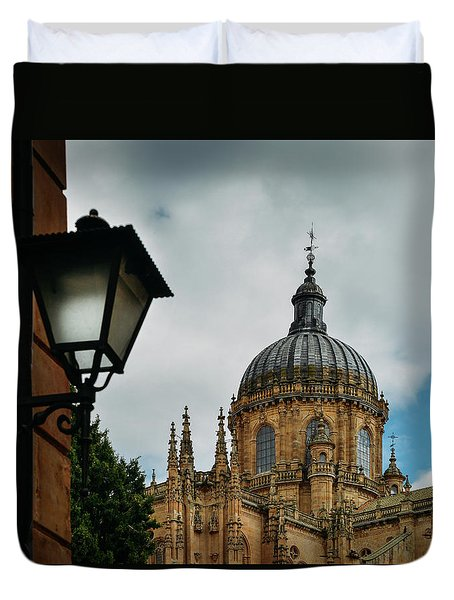 Old Cathedral, Salamanca, Spain  Duvet Cover