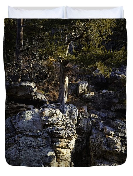Duvet Cover featuring the photograph Old Cedar Buffalo National River by Michael Dougherty