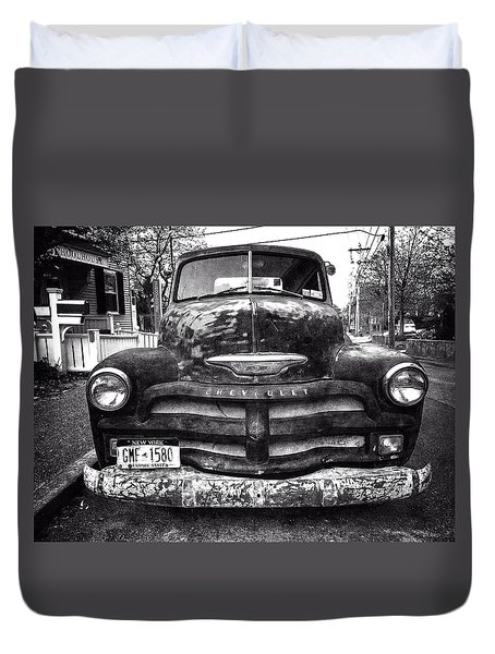 Old Chevy 2 Duvet Cover