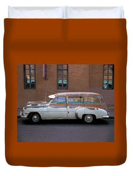 Old Chevy Duvet Cover