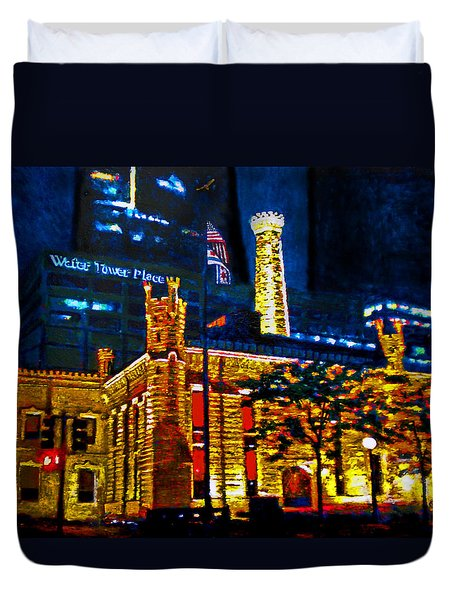 Old Chicago Pumping Station Duvet Cover by Michael Durst