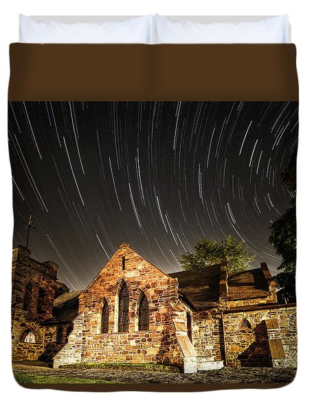 Old Church Duvet Cover by Edgars Erglis