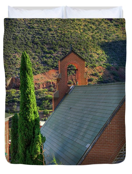 Old Church In Bisbee Duvet Cover